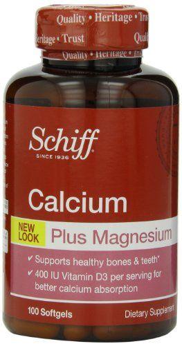 Buy Schiff Calcium Carbonate Plus Magnesium With Vitamin D3 400 Iu, Calcium Supplement, 100 Count (pack Of 3) online