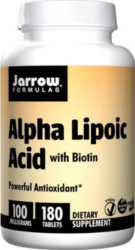 Buy Jarrow Formulas Alpha Lipoic Acid, 100 Mg, 180 Count online