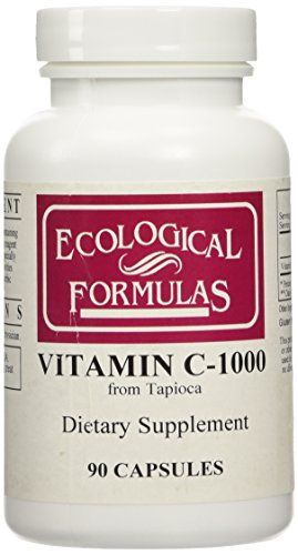 Buy Ecological Formulas - Vitamin C-1000 from Tapioca 90 caps Health and Beauty online