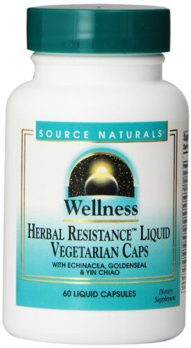 Buy Source Naturals Wellness Herbal Resistance Liquid Vegetarian Capsules, 60 Count online
