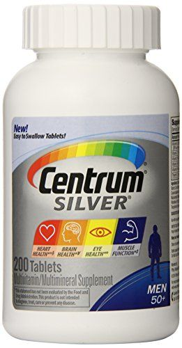 Buy Centrum Silver Multivitamin Supplement, Men 50+, 200 Count online