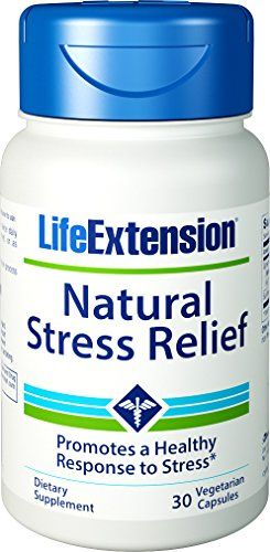 Buy Life Extension Natural Stress Relief, 30 Vegetarian Caps online