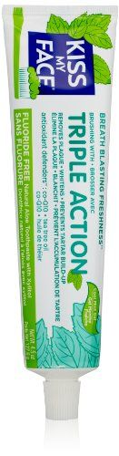Buy Kiss My Face Triple Action Gel Toothpaste, 4.5 Ounce online