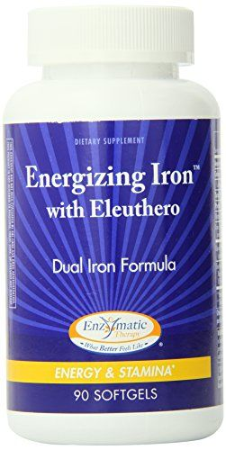 Buy Enzymatic Therapy Energizing Iron With Eleuthero Softgels, 90 Count online