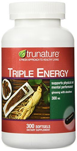 Buy Trunature Triple Energy Ginseng And Eleutherococcus 300 Softgels online