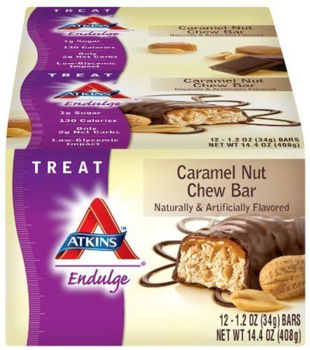 Buy Atkins Endulge Bars, Caramel Nut Chew, 1.2-ounce Bars, 12 Count online