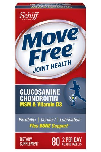 Buy Move Free Glucosamine Chondroitin Msm Vitamin D3 And Hyaluronic Acid Joint Supplement, 80 Count online