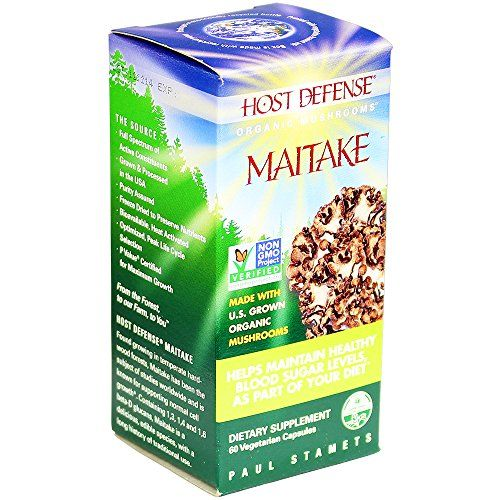 Buy Host Defense Maitake Capsules, Helps Maintain Healthy Blood Sugar Levels, As Part Of Your Diet, 60 Count online