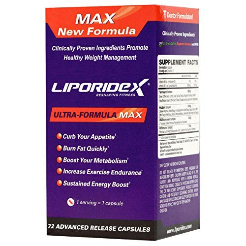Buy Fat Burner That Works Fast - Liporidex MAX Appetite Suppressant for Fast Weight Loss Supplements Increase Energy online