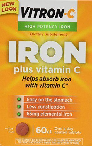 Buy Vitron-c High Potency Iron Supplement Tabs 60 Ct (2 Pack) online