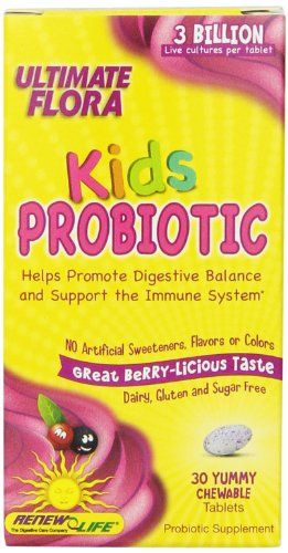 Buy Renew Life Ultimate Flora Kids Probiotic Chewable Tablets, 30 Count online