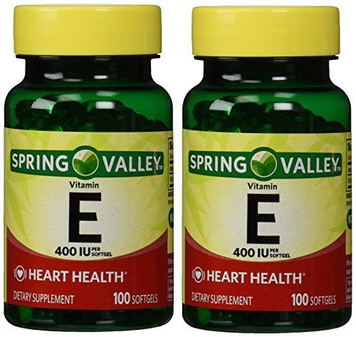 Buy Spring Valley - Vitamin E 400 Iu, 200 Softgels, Twin Pack online