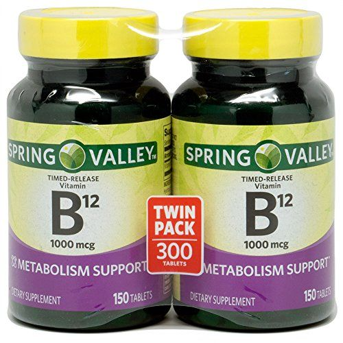 Buy Spring Valley - Vitamin B-12, Timed Release 1000 Mcg, 300 Tablets, Twin Pack online