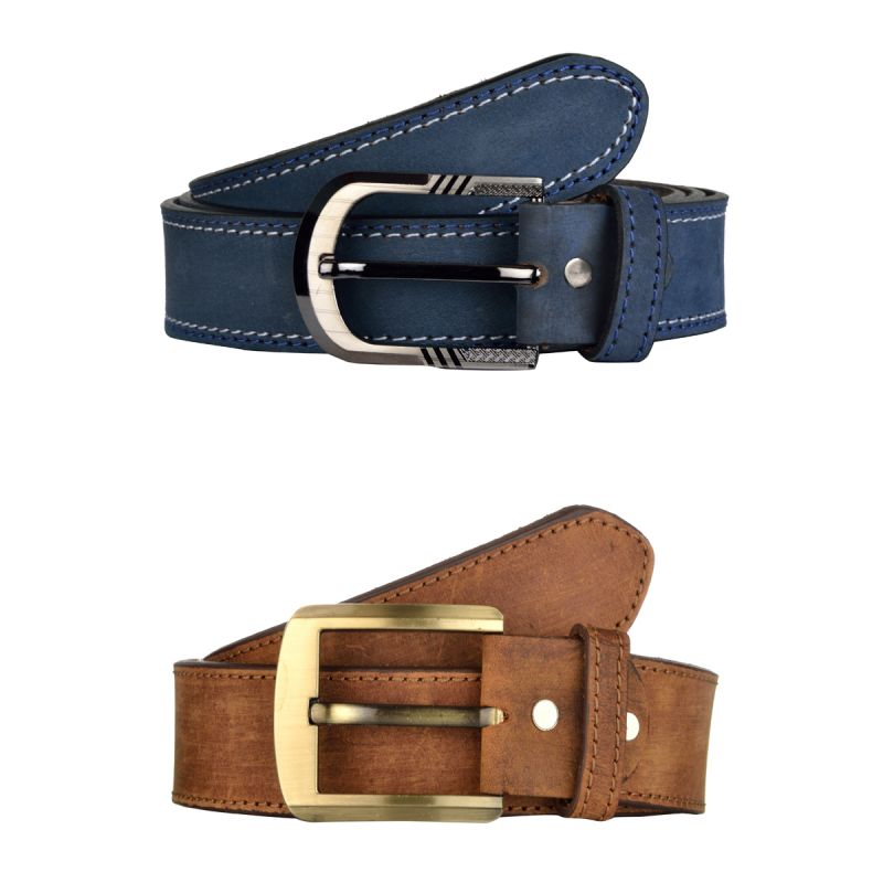 Buy Exotique Men's Blue & Brown Casual Belt Combo (ec0021mu) online
