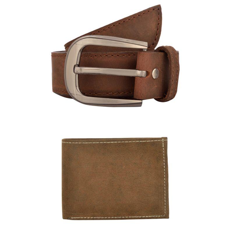 Buy Exotique Men's Brown Casual Belt & Wallet Combo (ec0024br) online