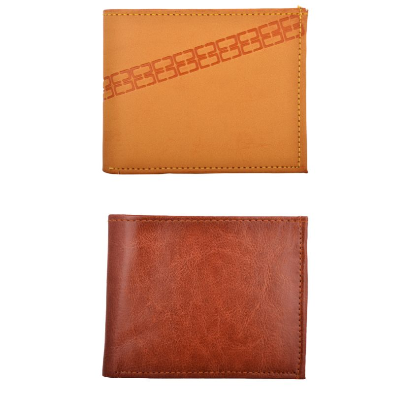 Buy Exotique Men's Tan Casual Wallet Combo online