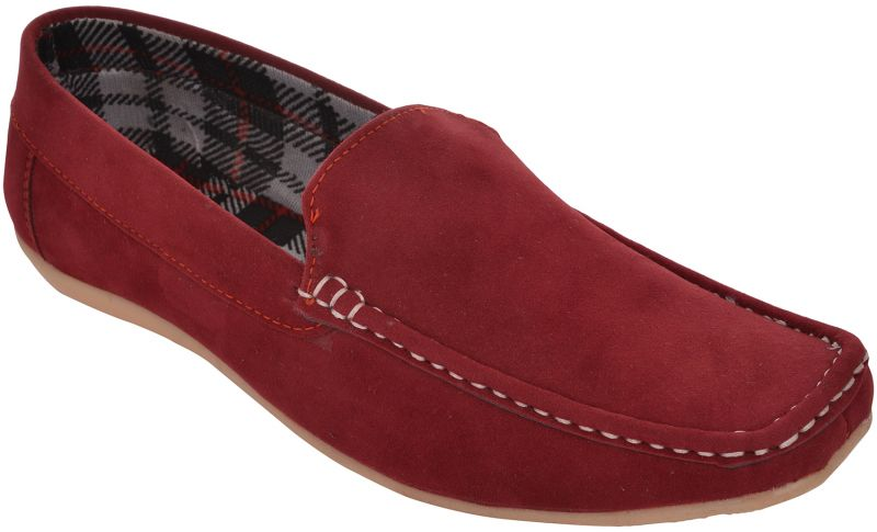 Buy Exotique  Men's Red Casual Loafer online