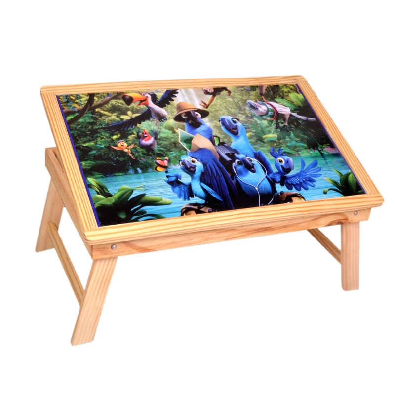 Buy Multipurpose Foldable Wooden Study Table For Kids - Study Skys&ray online