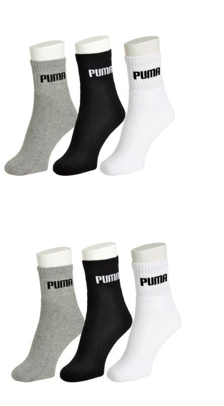 Buy Puma Mens Cotton Multicolor Socks (6 Pair Socks- 2-black, 2-white , 2 Grey) online