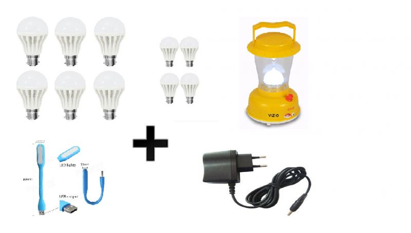 Buy Vizio Combo 12 W LED Bulbs(set Of 6) , 7 W Bulbs(set Of 4) , Emergency Lamp , Charging Cable & USB Light online