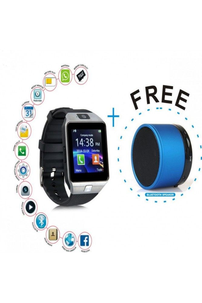 Buy Vizio Z01 Sim Smart Watch With Camera And 32 GB Expandable Memory ) Bluetooth Speaker Free online