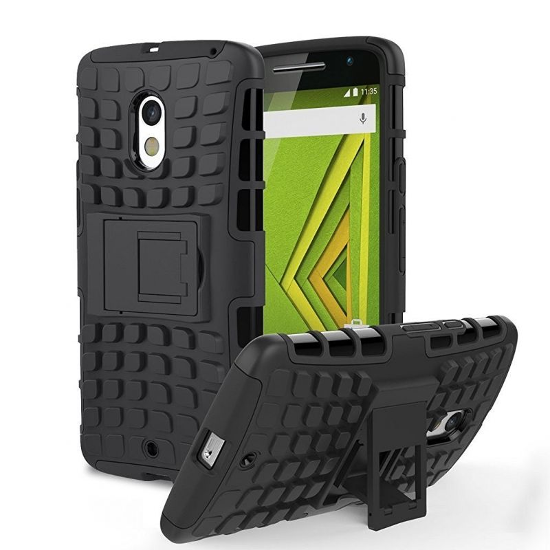 Buy Aeoss Hard Armor Tire Style With Stand Back Cover Cases For Moto X Play online