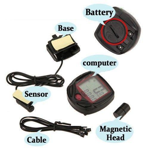 Buy Aeoss Waterproof Digital LCD Bicycle Computer Odometer Speed Meter Bike 14 Functions online