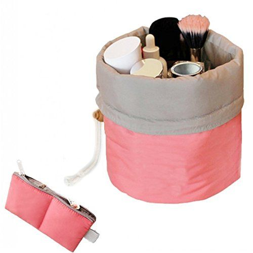 Buy Aeoss Bucket Barrel Shaped Travel Dresser Pouch Cosmetic Makeup Bag For Girl Women online