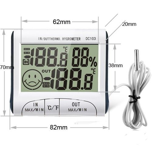 Buy Aeoss Weather Station Household Indoor & Outdoor Temperature Humidity Meter Digita LCD online