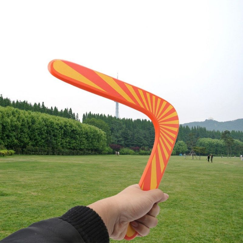Buy Aeoss V Shaped Boomerang Frisbee Kids Wooden Toy Outdoor Game online