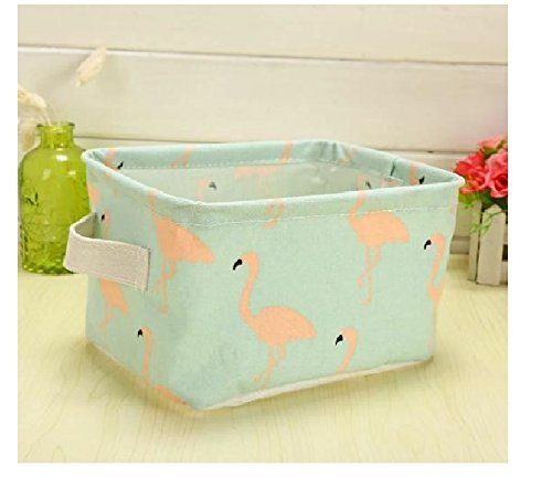 Buy Aeoss Cute Print Cotton Linen Desktop Storage Organizer Storage Basket Box online