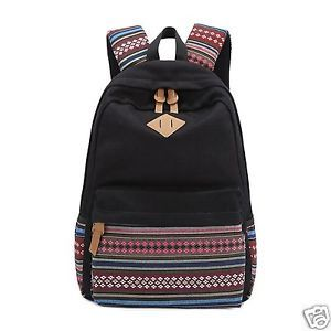 Buy Aeoss Causal Style Canvas Laptop Backpacks Shoulder Bag School Bag Aztec Triba Print online