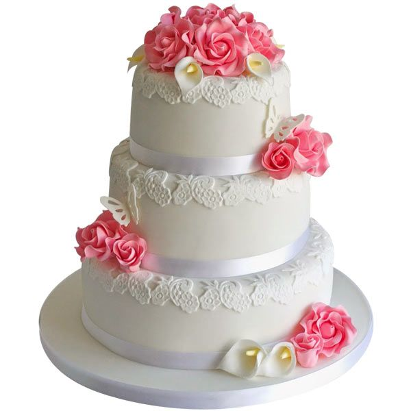 Buy Three Tier Wedding Cake Online Best Prices in India Rediff