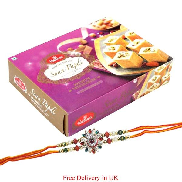 Buy Haldiram Soan Papdi With Rakhi For United Kingdom online