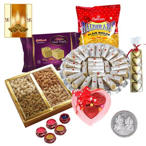 Buy Assemblage Features Diwali Hamper And Free Diya online