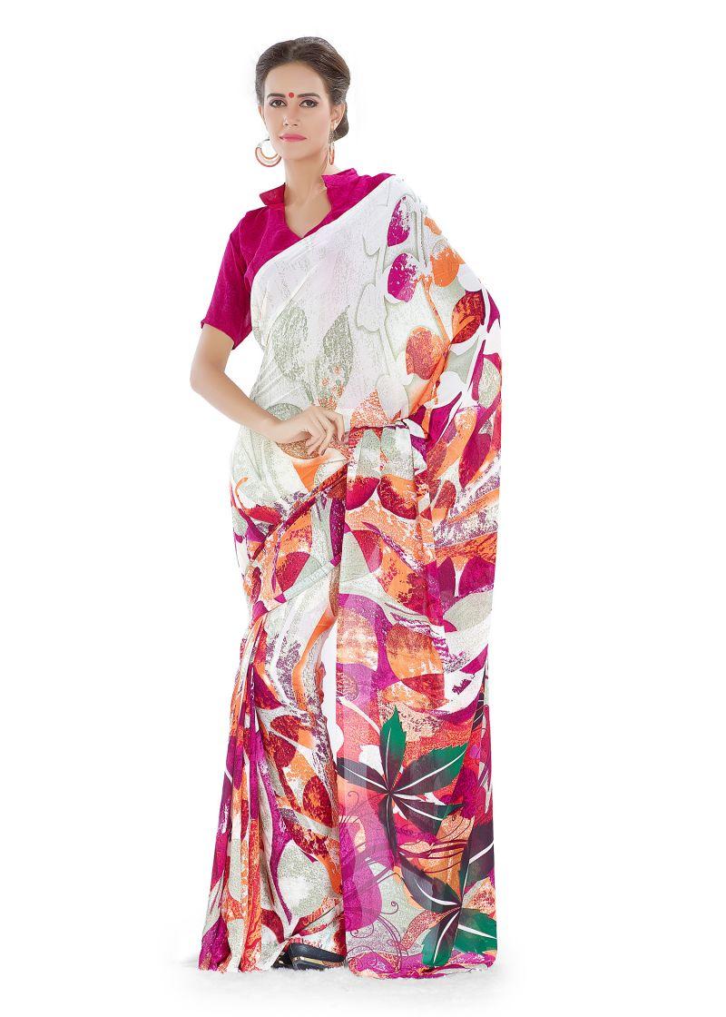 Buy Royal Choice Georgette Multicolor Saree-(code-16055) online