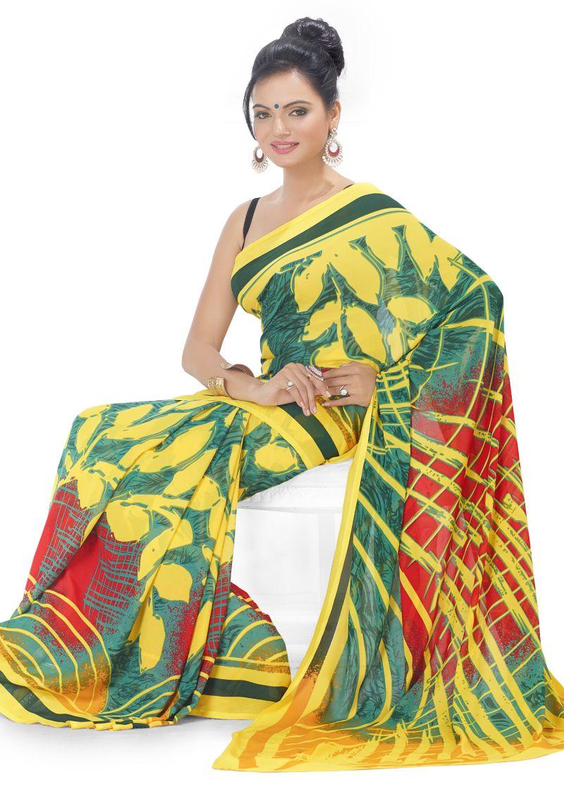 Buy Royal Choice Georgette Multicolor Saree-(code-k17021) online