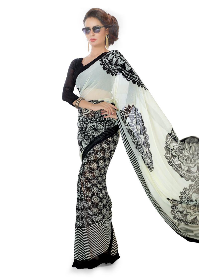Buy Royal Choice Georgette Multicolor Saree-(code-k17053) online