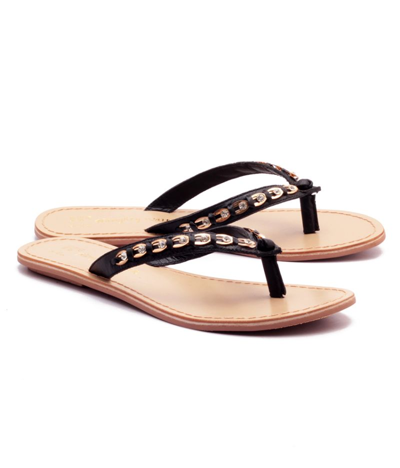 Buy Naughty Walk Black Strap Genuine Leather Sandals online