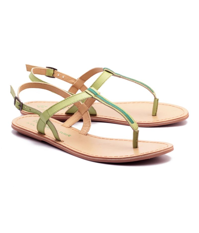 Buy Naughty Walk Lime Green Strap Genuine Leather Sandals online