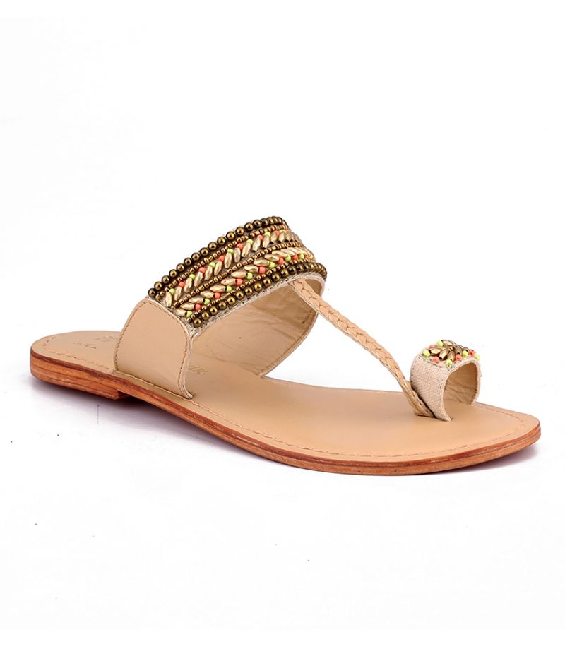 Buy Naughty Walk Multi color Genuine Leather Sandals online