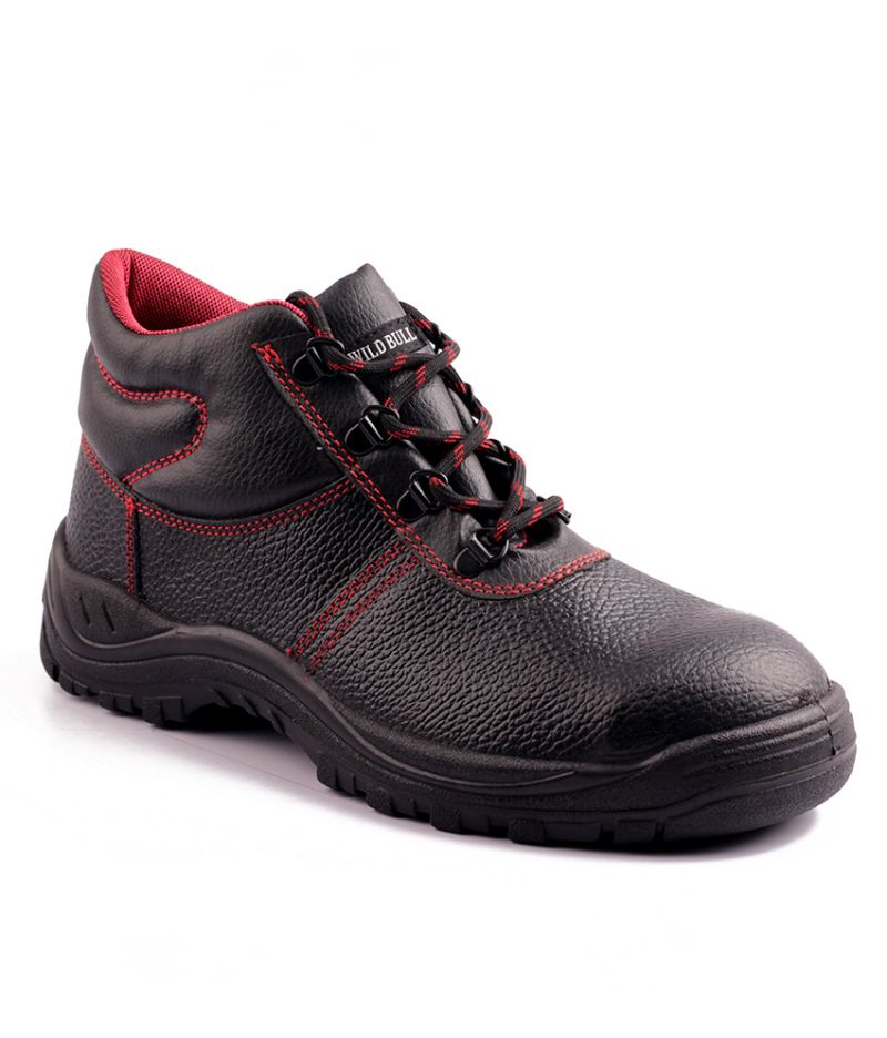 Buy Wild Bull Red Power Plus Leather Safety Shoes online