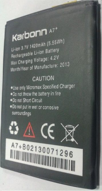 Buy Replacement Li Ion Battery For Karbonn A7 Plus online