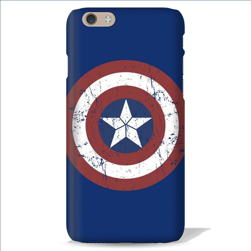 Buy Leo Power Captain America Sheild Printed Case Cover For Apple iPhone 6 online