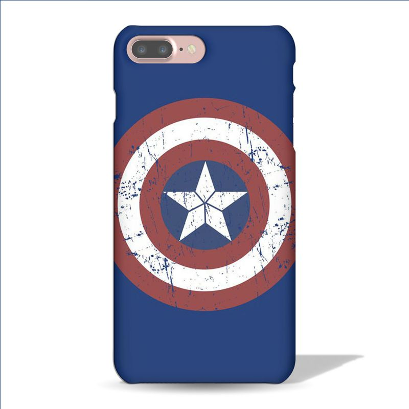 Buy Leo Power Captain America Sheild Printed Case Cover For Apple iPhone 7 Plus online