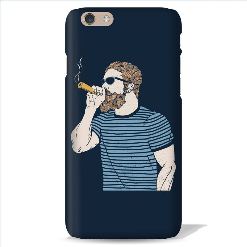 Buy Leo Power Beard Dude Navy Blue Printed Case Cover For Oneplus 5 online