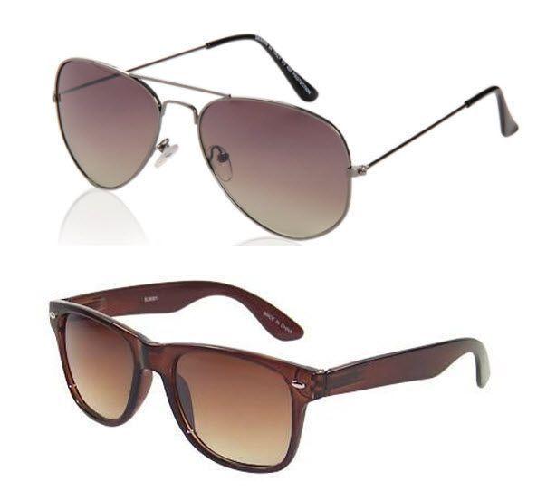 Buy Buy 1 Aviator Sunglass - Get 1 Wayfarer Sunglass Free online