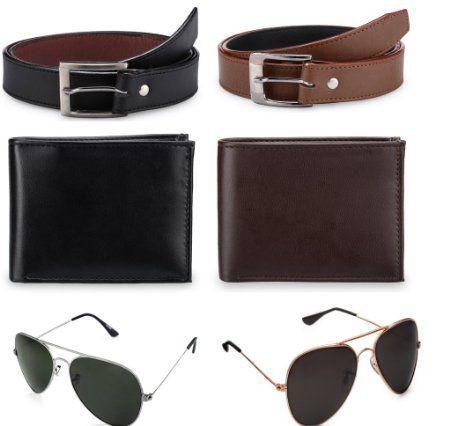 Buy Combo Offer 2 Belts 2wallets 2sunglasses online