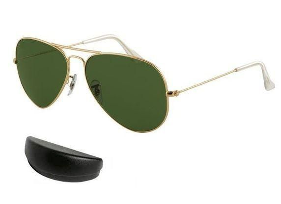 Buy Golden Frame Aviator Style Air Force Sunglasses Mens Sunglass With Case online