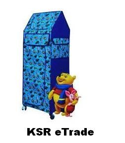 Buy Ksr Etrade Folding Cloth Almirah With Wheels Hut Shape With 5 Tray online
